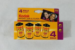 N.O.S. Kodak 200 Film ISO 200-24 Bright Sun and Flash 4 Roll Pack exp 08/2004
