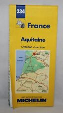 France - Michelin 1:200,000 Map - Aquitaine - Sheet 234 - 1998