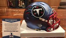 Marcus Mariota Autographed Tennessee Titans Blaze Mini Helmet Beckett & GTSM
