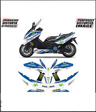 kit adesivi stickers compatibili  tmax 2008 2011 m1 movistar moto gp