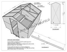 Ice fishing shack shanty hut construction plan drawing blueprint mat'l/cut list