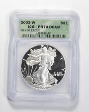 PR70 DCAM 2003-W American Silver Eagle - Graded ICG *937