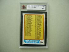 1986/87 O-PEE-CHEE NHL HOCKEY CARD #165 FIRST CHECKLIST KSA 7.5 NM+ 86/87 OPC