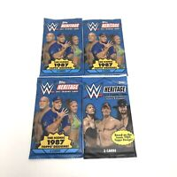 Lot Of 4 New WWE Wrestling Heritage 2017 And 2015 Sealed Packs WWF WCW AEW