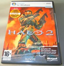 HALO 2 ( PC UK 2007) with manual , 1 months gold trial & worldwide shipping VGC