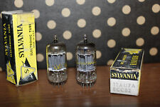 2x Sylvania 12AU7 ECC82 Pair - microphone preamp NOS tube New Old Stock