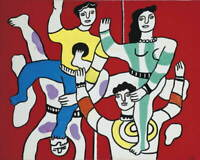Fernand Leger The Four Acrobats Poster Reproduction Giclee Canvas Print