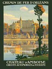 Vintage French Loire Valley Chateauxs Tourism Poster A4//A3//A2//A1 Print