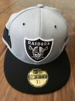 Oakland Raiders New Era NFL Sideline Home 59FIFTY Fitted Hat 7 3/4
