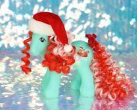 HQG1C Custom CHRISTMAS BOY DASHER Santa Sleigh Vintage G1 MLP Style BO019