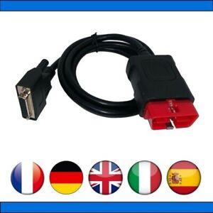 Câble OBDII de remplacement pour valises Diagnostic Auto Delphi - CDP+
