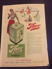 Original 1953 THOR Automatic Washer Australian Print Advertising Aberdeen