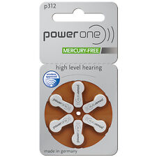 Piles boutons auditives Power One, 10/13/312/675, Free shipping worldwide !!