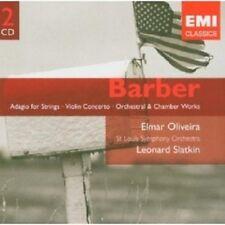 SLATKIN/OLIVEIRA/SLSO - VIOLINKONZERT/ADAGIO/+(EX DF) (SAMUEL BARBER) 2 CD NEU
