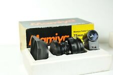 Mamiya Sekor lens 75mm f/5,6 + view finder - usato - 6 mesi di garanzia