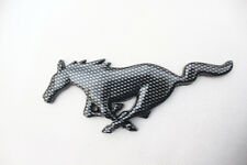 Carbon Fiber Horse Front Trunk Rear Side Car 3D Emblem Badge Sticker For Mustang