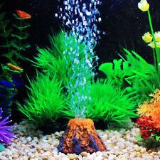 Aquarium Volcano Shape Air Bubble Ornament Stone Fish Tank Oxygen Pump Air Pump