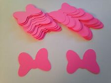 48 Large Hot Pink Minnie Mouse Bow Die Cut Cutout Confetti Embellishment