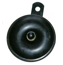 6v motorcycle horn, hooter 75mm o.d. 100dB - colour is black - d.c. battery