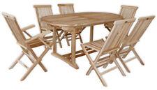 KMH® Teak Gartensitzgruppe Sitzgarnitur Gartengarnitur Sitzgruppe Holz Möbel