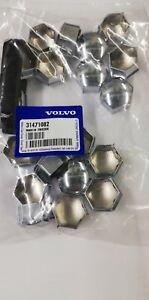 Genuine Volvo wheel nut covers V40 2016-2019, V40CC, Chrome, 31471082