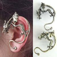 Vintage Earrings Gothic Punk Metal Dragon Bite Ear Cuff Wrap Earring Ear Clip LY