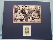 Yalta Conference - Franklin D. Roosevelt, Stalin & Churchill & his own stamp