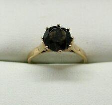 Vintage 9 carat Gold Smokey Quartz Solitaire Ring Size L.1/2
