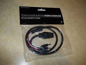 TI-99/4A TI99 Home Computer Black Single CASSETTE CABLE PHA 2622 NEW **SEALED**