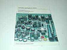 revue LEICA FOTOGRAFIE le matériel Leica en 1978 photo photographie
