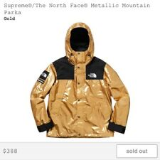 Supreme The North Face Metallic Mountain Parka Gold Large