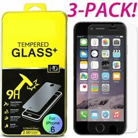 3 PACK Film Real Premium Tempered Glass Screen Protector for iPhone SE 5 5S 5C