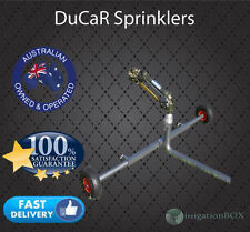 """DuCaR JET35T Gear Drive Sprinkler with 2"""" wheeled cart (extendable legs) + QC"""