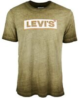 Levi's Mens Shirt Green Size 2XL Graphic Tee Classic Grunge Logo Crew $24 #014