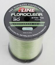 P-Line Floroclear 2700yd. Spool 30lb. Flourocarbon Coated Fishing Line NEW
