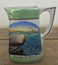 Antique Lusterware Creamer Bar Harbor Maine Balance Rock Steamship Hand Painted