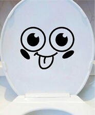 Toilet seat eyes vinyl decal/sticker funny Bathroom smiley face