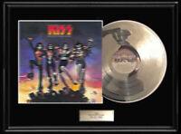 KISS 3-D  DESTROYER ALBUM FRAMED LP WHITE GOLD SILVER PLATINUM TONED RECORD 3d
