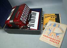 funktionstüchtig Akkordeon WELTMEISTER SERINO 40 Bass + Koffer Klavierakkordeon