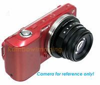 35MM APS-C F1.6 MC Lens + Adapter for Sony NEX a6500 a6000 a5000 a3500 a3000