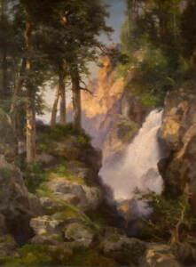 Thomas Moran Falls at Toltec Gorge Giclee Art Paper Print Poster Reproduction