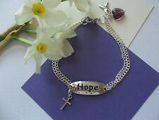 PANCREATIC CANCER 0R LUPUS/ FIBROMYLGIA AWARENESS FAITH AND HOPE BRACELET