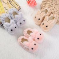 Toddler Infant Kids Baby Warm Shoes Boys Girls Cartoon Rabbit Soft Slippers