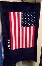 2017 POLO RALPH LAUREN USA RL-67 AMERICAN FLAG BEACH BATH TOWEL BEAR SKI RARE