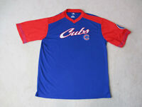 MLB Chicago Cubs Shirt Adult Large Blue Red Baseball Lightweight Mens