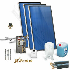 Solaranlage komplett Solarpaket Solarthermie Warmwasser, Solar 2,03-10,15m²
