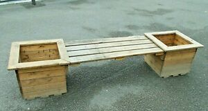 Pine Double Planter with Bench  ---   Buyer to collect