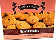 Twin Dragon Almond Cookies with Diced Almonds 8 oz