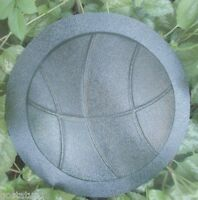 Basketball small stepping stone mold / plaque plastic sport mould