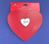 Hallmark PIN Valentines Vintage HEART Clear LOVE Puffed Holiday Brooch NEW